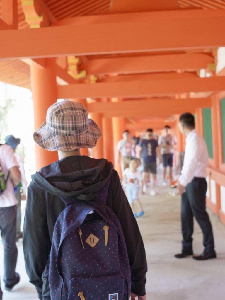 春日大社西回廊。 photo aoi kawano